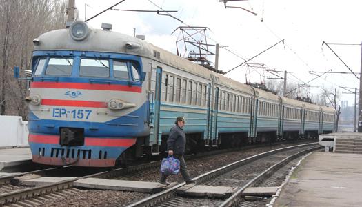 транспорт, электричка, рельсы, поезд