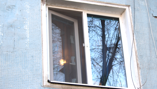 дом, окно