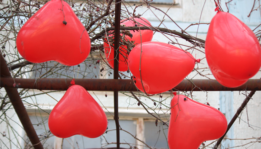 любовь, шарики, сердце, свадьба