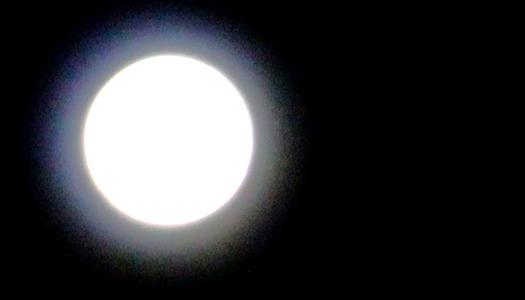 ночь, луна, свет, космос