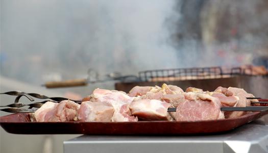 мясо, шашлык, праздник, отдых