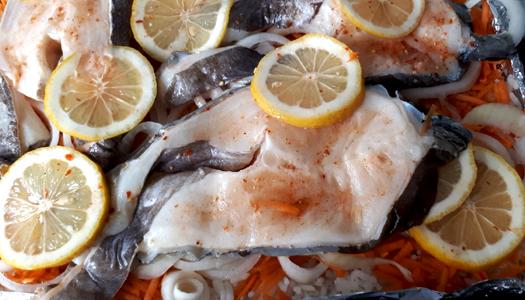 еда, рыба, продукты, лимон