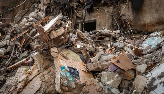 взрыв дома, руины