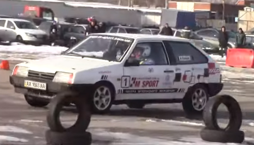 В Харькове состоялась уникальная гонка украинских звезд автоспорта
